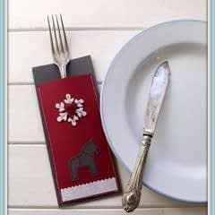 Scandi Christmas Cutlery Pocket