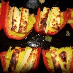 Couscous And Homemade Halloumi Stuffed Peppers