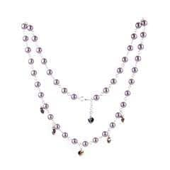 Pearl & Heart Shimmer Necklace