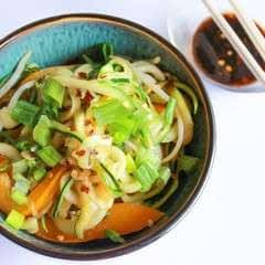 Zucchini Noodles With Crushed Pepper Dressing