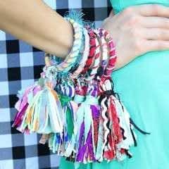 Fabric Tassel Bracelets
