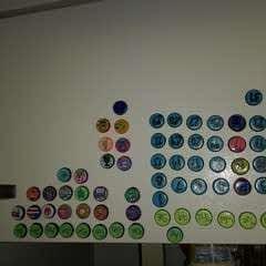 Magnetic Bottle Cap Calendar