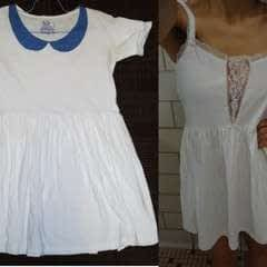 Peter Pan Collar Tshirt Dress Into Lace Tshirt Dress