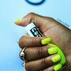 Neon Negative Space Nail Tutorial