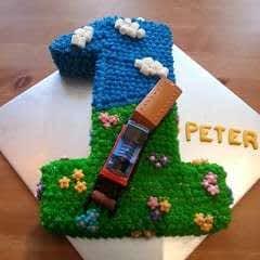Thomas The Tank Engine Baby's 1st Birthday Cake