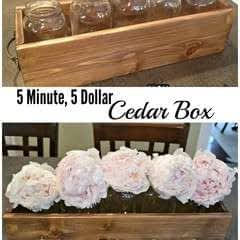 Diy Cedar Box   For Herbs, Flowers, Storage Or Display