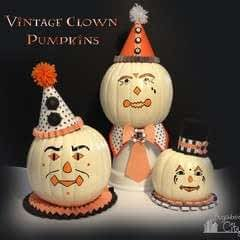 Vintage Clown Pumpkins