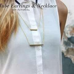 Brass Tube Necklace & Bracelet