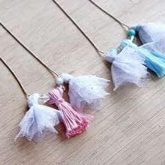 Tulle & Thread Tassel Necklace