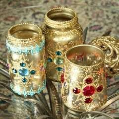 Bejeweled Jar Lanterns