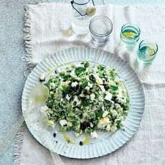 Green Cauliflower 'Couscous' With Pumpkin Seeds