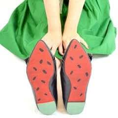 Watermelon Painted Soles