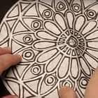 """Color Diffusing Paper """"Stained Glass"""" Rose Window"""