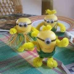 Minions Made Of Kinder Egg Shells
