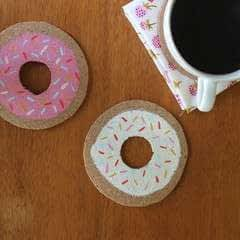 Doughnut Coasters