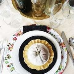 Diy Floral Plate Chargers