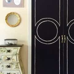 Shutter Doors Turned Chic Doors On A Budget