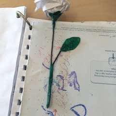Origami Rose Bookmark
