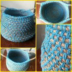 Crochet Rope Basket