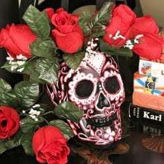 Sugar Skull Vase