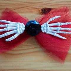 Skeleton Hand Bow Headband