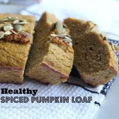 Healthy Spiced Pumpkin Loaf