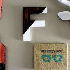 Diy Color Block Letter