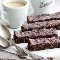 Chocolate Shortbread Fingers With Almonds
