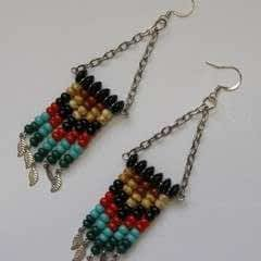 Chevron Fringe Earrings