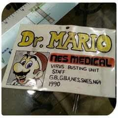 Dr. Mario Medical Badge