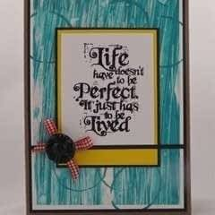 Cardmaking With Dylusions Paint