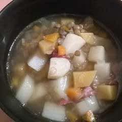 Green Lentils & Ham Soup