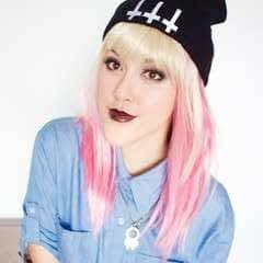Pink Goth Grunge Makeup Tutorial