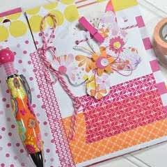 Washi Tape Bound Journal