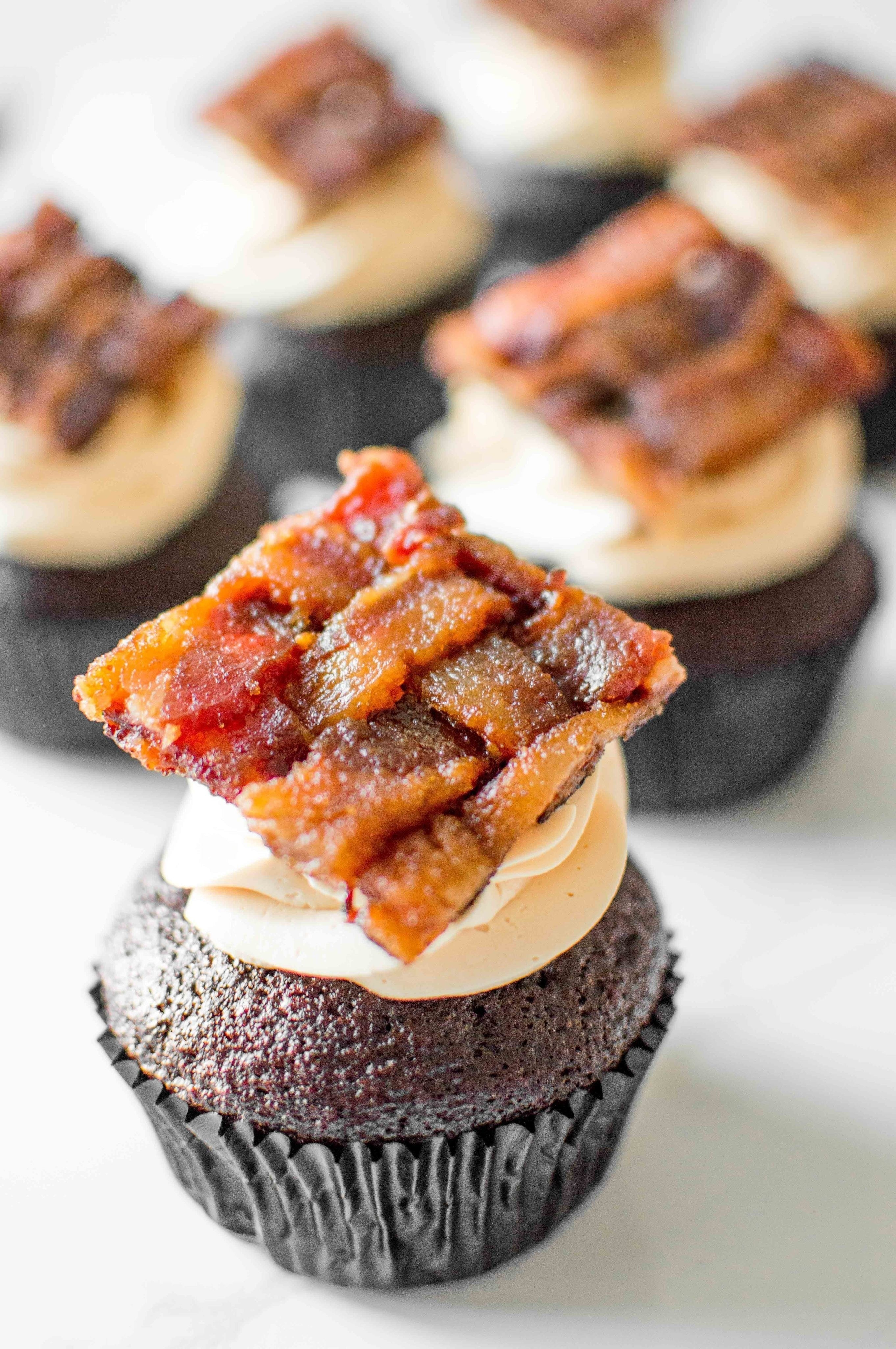 Basketweave Bacon Caramel Cupcakes · How To Bake A Chocolate Cupcake ...