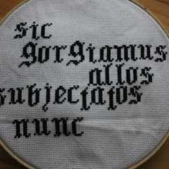 Addams Family Motto Cross Stitch