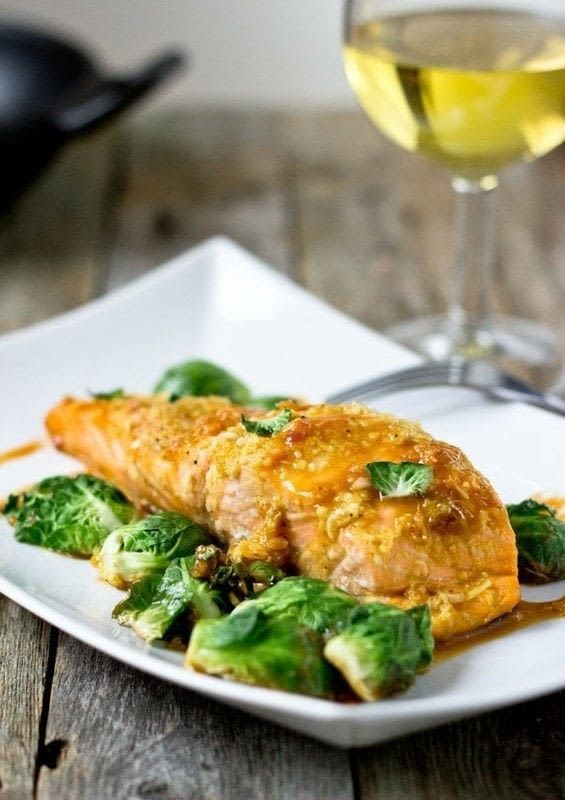 Roasted Salmon With Orange Ginger Glaze · How To Cook A Salmon Dish ...