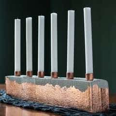 Diy Cement & Copper Candle Centerpiece