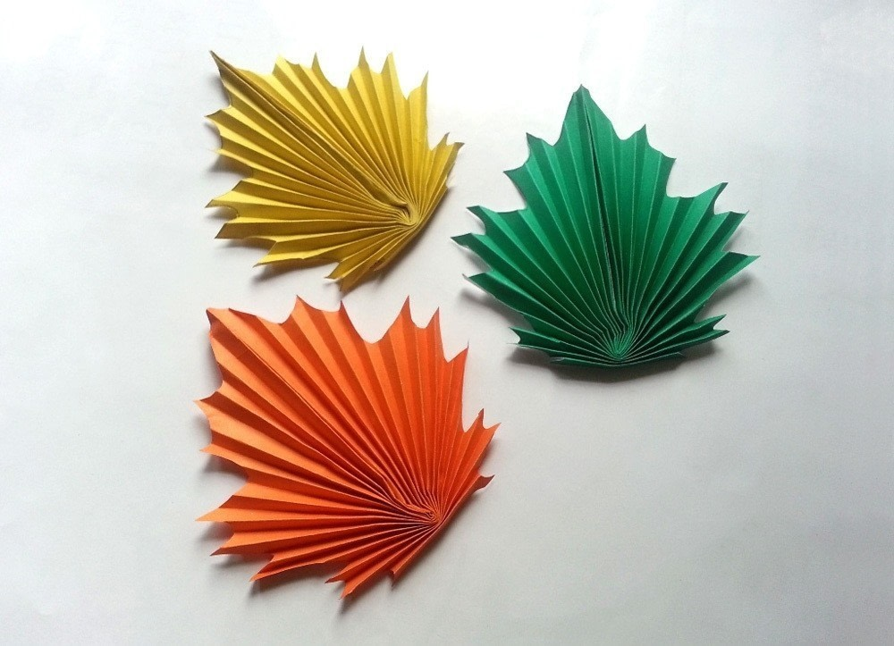Diy Paper Maple Leaves 183 How To Make A Paper Model