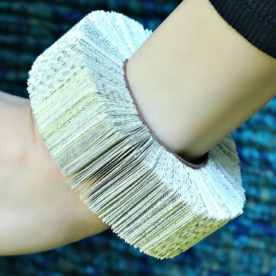 book bracelet  u00b7 how to make a paper bracelet  u00b7 jewelry on