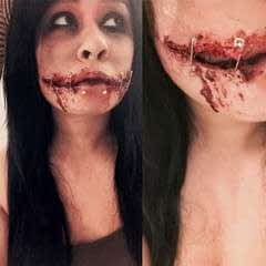 Chelsea Smile Sfx Makeup (Chelsea Grin, Safety Pins, Cut Mouth, Joker, Bloody)