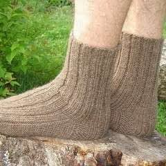 how to keep knitted wool socks in shape
