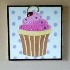 Glass Art Cupcake