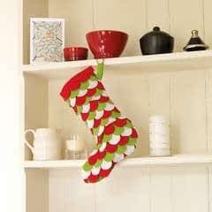 Scalloped Felt Stocking