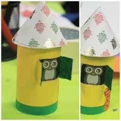 Diy Cute Paper Birdhouse Kids Room Decor