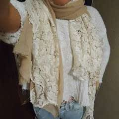 Lace And Chiffon Scarf