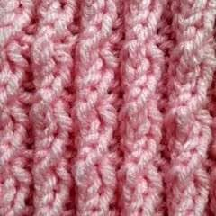 Right Twist Cable Scarf Pattern