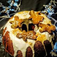 Spiced Apple & Gingerbread Cake