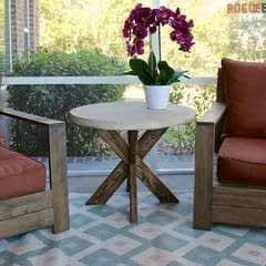 Concrete X Brace Side Table
