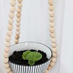 Diy Beaded Plant Hanger